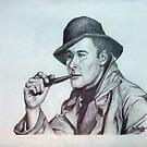 Errol Flynn Portrait by Paula Busto