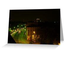 Frankfurt Night Streetscape 1 Greeting Card