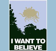 I Want to Believe in the Flying Spaghetti Monster T-Shirt