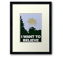 I Want to Believe in the Flying Spaghetti Monster Framed Print