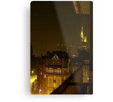 Frankfurt Night Streetscape 2 Metal Print