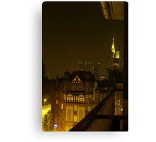 Frankfurt Night Streetscape 2 Canvas Print