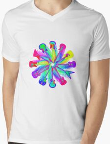Colorful Electric Guitar Artwork Mens V-Neck T-Shirt