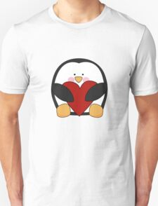 Valentine's Penguin holding heart T-Shirt