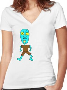 Stop Looking at Me! Women's Fitted V-Neck T-Shirt