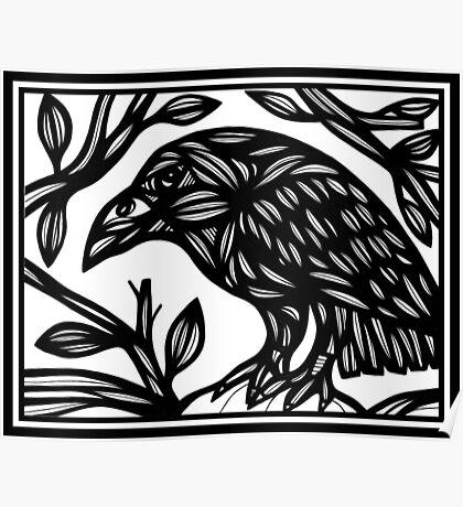 Bird Artwork, Illustration Bird Poster