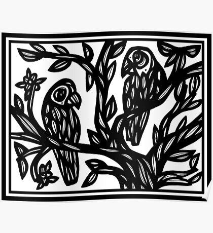 Bird Artwork, Illustration  Poster