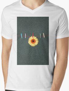 gerbera Mens V-Neck T-Shirt