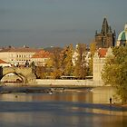 Vltava River Prague by Chris van Raay