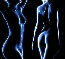 Figures in blue light by Mikhail Palinchak