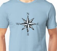 Compass Rose NESW Vintage two colors Unisex T-Shirt