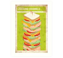 Supernatural 5x08 - Changing Channels Art Print