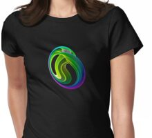 Twisted rainbow Womens Fitted T-Shirt