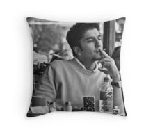 Coffee and a cigarette Throw Pillow