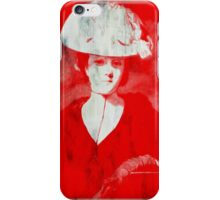 RED DAME IN HAT AFTER REYNOLDS iPhone Case/Skin
