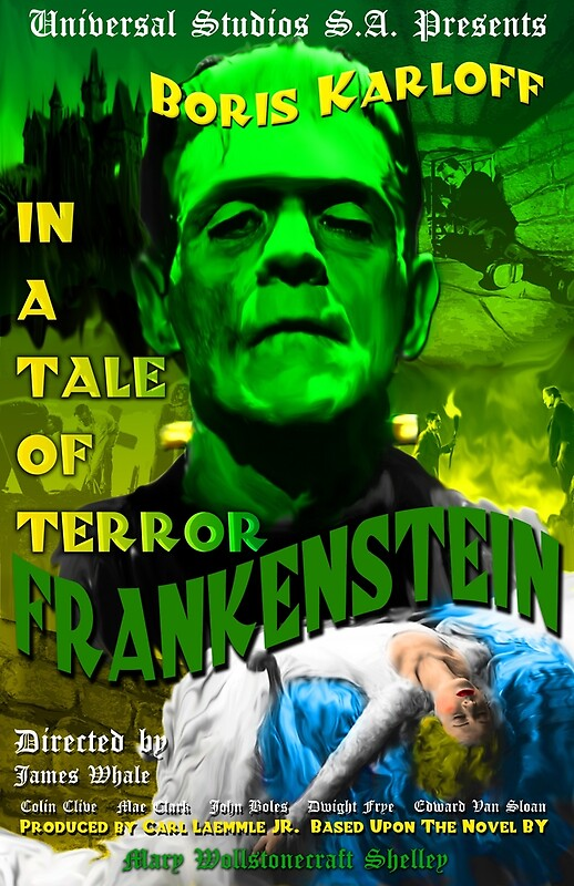 Frankenstein movie poster 11 x 17