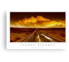 Lauder Highway Canvas Print
