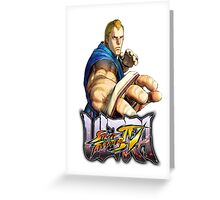 ultra street fighter abel Greeting Card