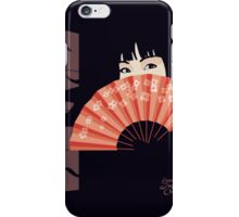 Geisha with Fan iPhone Case/Skin