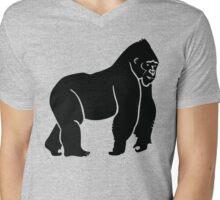 Gorilla Silhouette Mens V-Neck T-Shirt