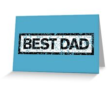 Best Dad Stamp Greeting Card