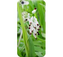 withe flower iPhone Case/Skin