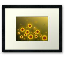 * sunflower field * Framed Print