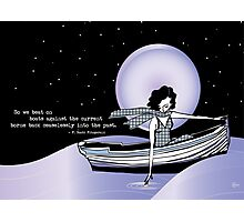 1920s Gatsby Flapper Girl Sea Boat Quote Photographic Print