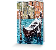 Venice in Winter Greeting Card