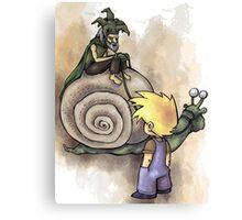 Jeffery Meets The Hermit Snail Rider Canvas Print