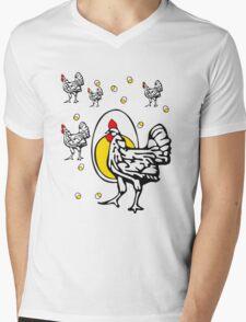 Roseanne Chicken Mens V-Neck T-Shirt