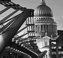 B&W St.Pauls and Bridge by LeeMartinImages