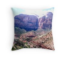 Outcrop at Zion National Park, Utah Throw Pillow