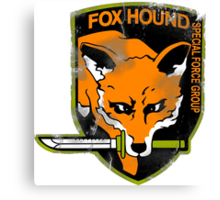 Fox Hound Special Force Group Canvas Print