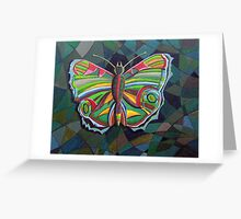 226 - STYLISED BUTTERFLY - DAVE EDWARDS - ACRYLICS - 2008 Greeting Card