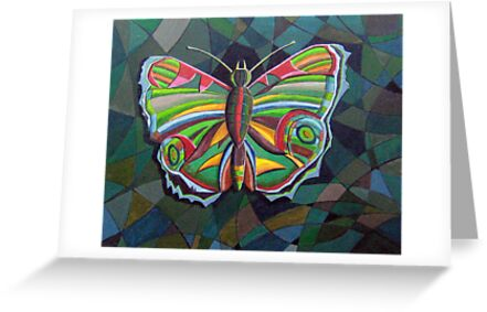 226 - STYLISED BUTTERFLY - DAVE EDWARDS - ACRYLICS - 2008 by BLYTHART