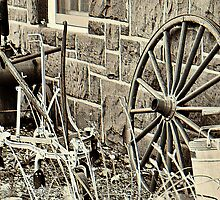 Old Farm Tools in Paramus by joan warburton