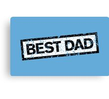 Best Dad Stamp two color Canvas Print