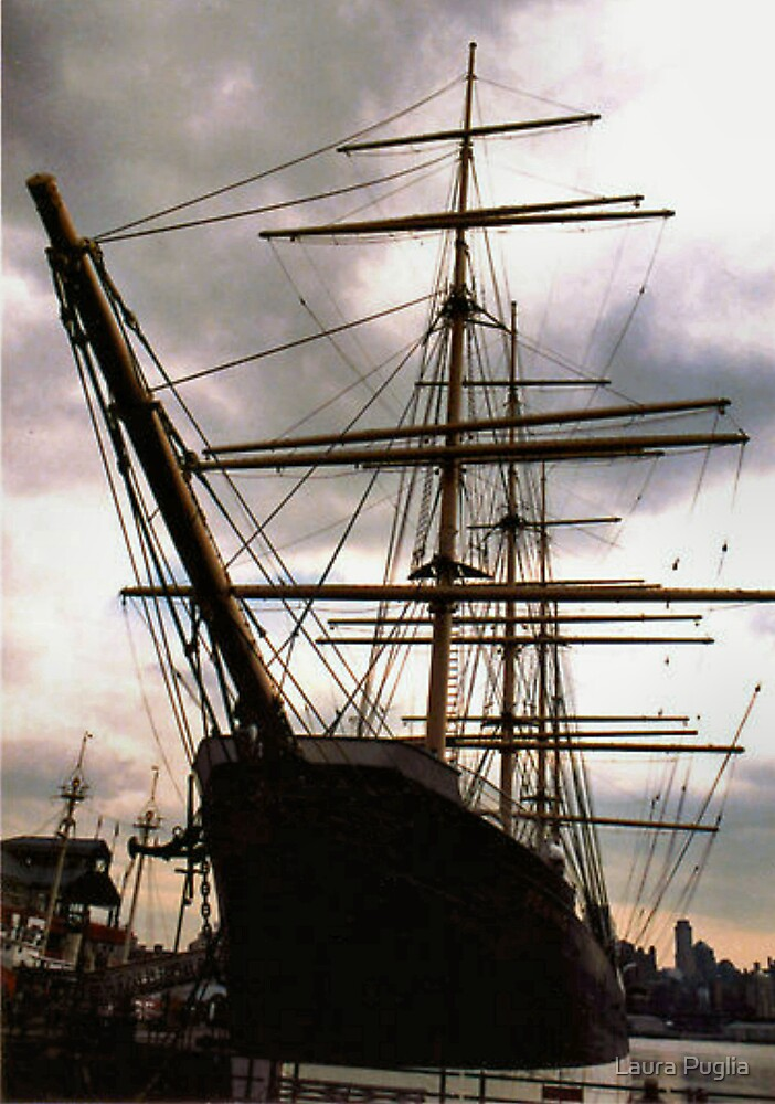 """""""The Peking"""" at South Street Seaport - New York City by Laurie Puglia"""