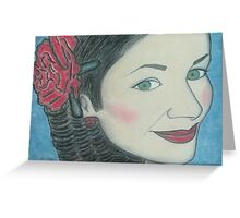 Pastel Portrait Drawing Greeting Card