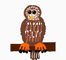 Barred Owl on a Branch  Womens Fitted T-Shirt