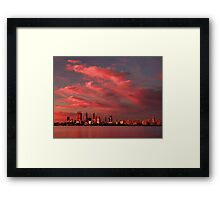 Sunset Over Perth Western Australia - HDR Framed Print