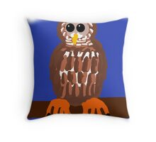 Barred Owl on a Branch  Throw Pillow