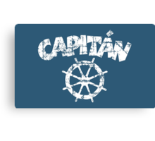 Capitan Wheel Vintage White Canvas Print