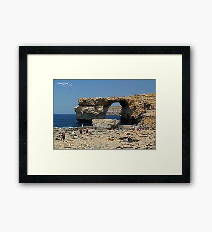Azur Window Framed Print