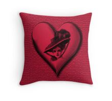 RETRO STYLE CLASSY HEART (VALENTINE) PILLOW AND OR TOTE BAG.. Throw Pillow