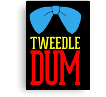 Tweedle dee and tweedle dum. Canvas Print