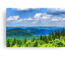 Just Breathe Deeply - Impressions of Mountains Canvas Print