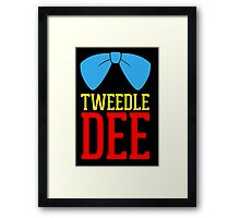 FUnny Tweedle Dee - Tweedle Dum for couples Framed Print