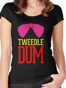 Tweedle Dee Tweedle Dum Costume Women's Fitted Scoop T-Shirt